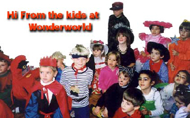 Wonderworld nursery school and kindergarten pupils dress up.