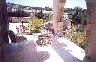 Kamares Villa to rent in cyprus patio.jpg (37521 bytes)