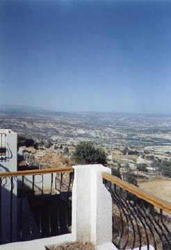 more view from the veranda pissouri villa in cyprus.jpg (24906 bytes)