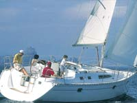 The Jeaneau 34 under sail - the ideal charter boat for a small family